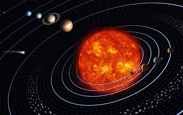 Sun and Stars located in the center of the Solar System